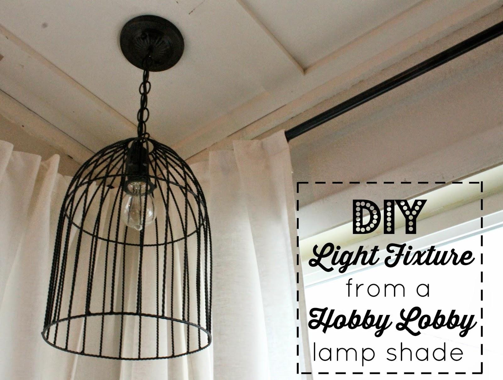 Wonderfully Made Diy Ceiling Light Fixture