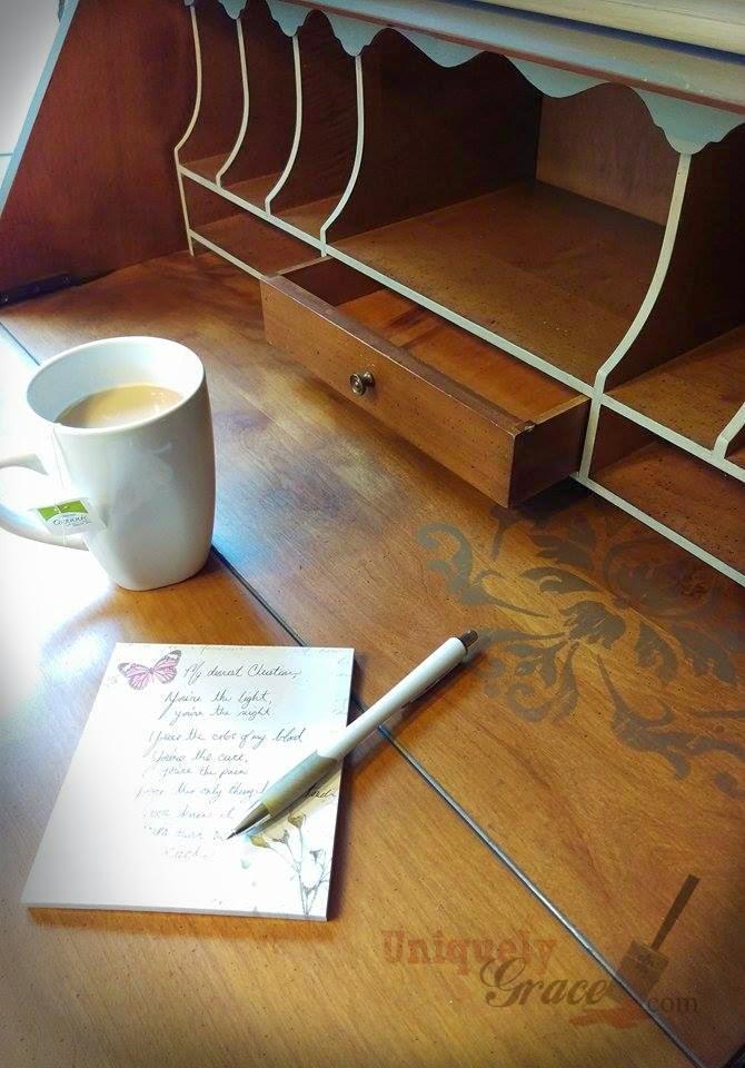Jasper Cabinets Secretary Desk Furniture Flip With Chalk