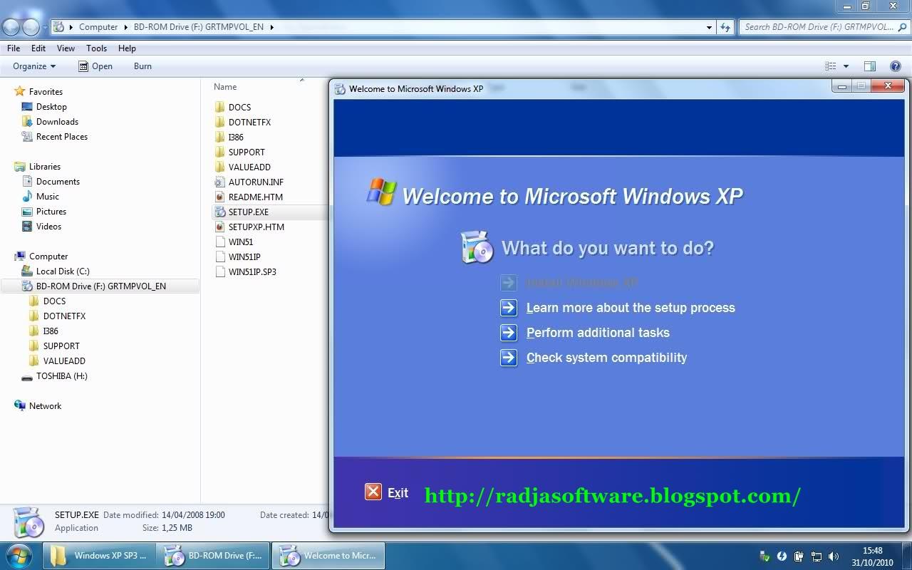 Product key windows xp professional sp3
