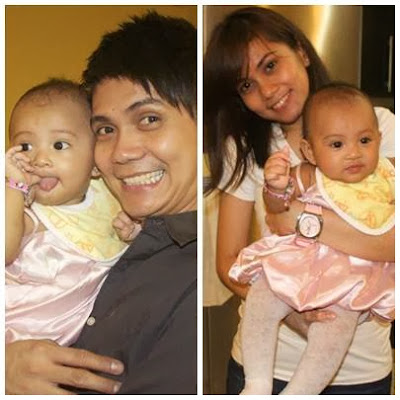 Vhong and Tanya with a baby girl (not sure if she's their daughter)
