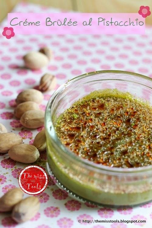 crème brûlée al pistacchio - pistachio crème brûlée