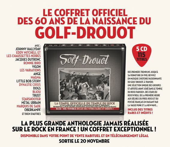 Golf-Drouot, le Temple du Rock : le coffret anniversaire 5 cds !
