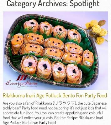 cute rilakkuma inari age potluck recipe foodwhirl