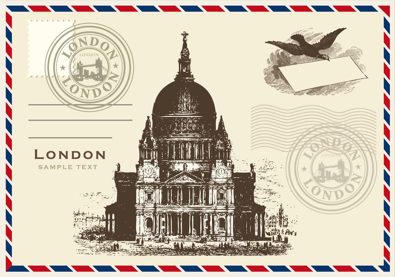 Виды открыток в англии