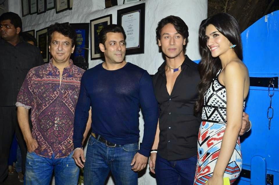 Salman Khan & Sajid Nadiadwala at the Heropanti success bash!