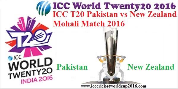 ICC T20 Pakistan vs New Zealand Mohali Match Result 2016