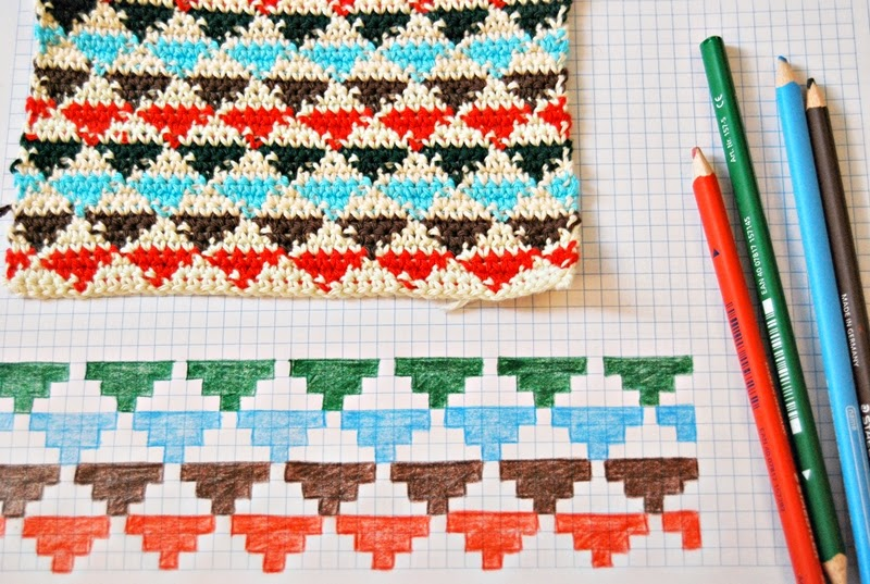 De Estraperlo: Tapestry Crochet small triangles