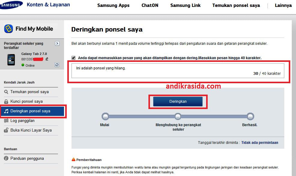 Cara Melacak Samsung Android yang Hilang