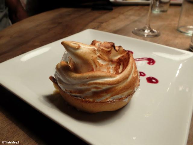 Restaurant De Viande L'Aller Retour Paris dessert tarte citron meringuee belle