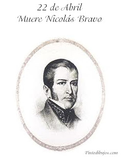 22 de Abril Muerte de Nicolás Bravo para colorear