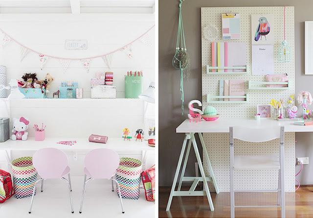 Muebles color pastel para niños