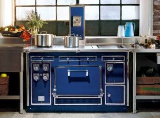 photo of blue electric kitchen range stove costing 100,000 dollars