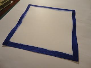Cobalt blue mat