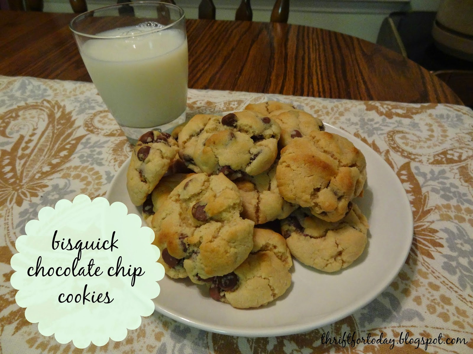 Thrift for Today: Bisquick Chocolate Chip Cookies