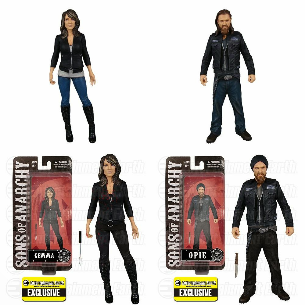 "Sons of Anarchy Wave 2 6"" Action Figures by Mezco Toyz - Katey Segal as Gemma Teller Morrow & Ryan Hurst as Harry ""Opie"" Winston"