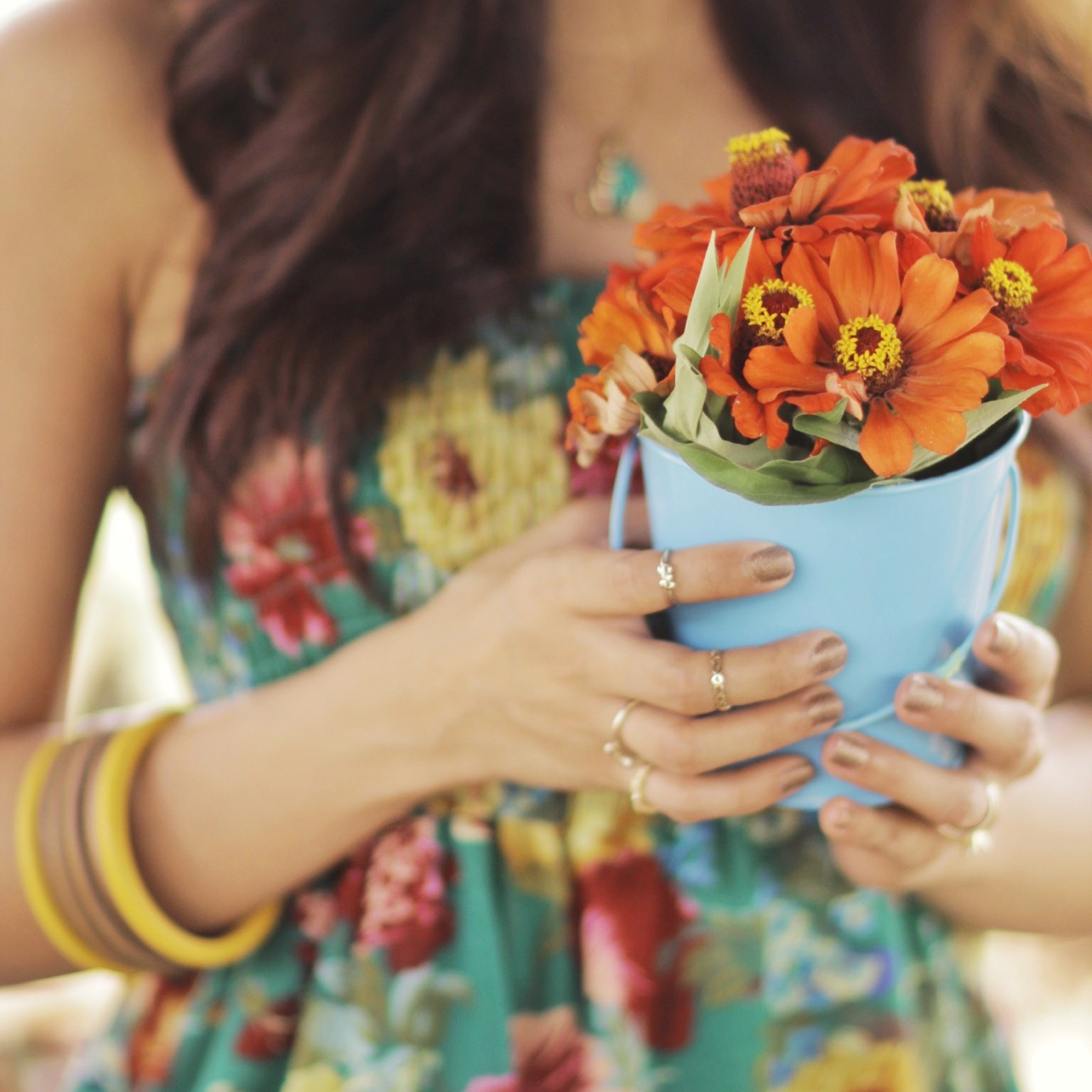floral, wooden bangles, knuckle rings
