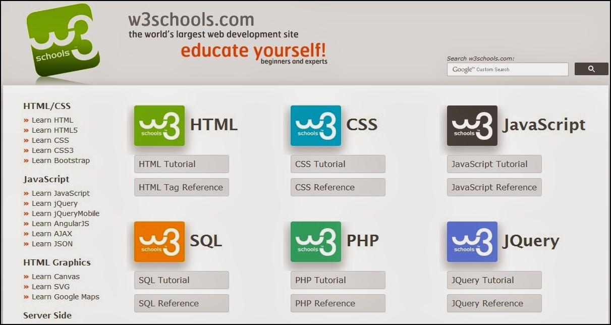 Belajar Web Pemrograming Dengan Tutorial W3schools Jadi Mudah