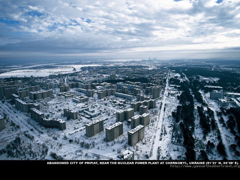Abandoned City of Pripiat near the Nuclear power plant at Chernobyl