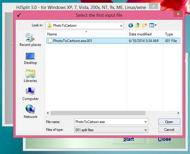 Cara Memecah File Dan Menggabungkan File Dengan HJ-Split 4