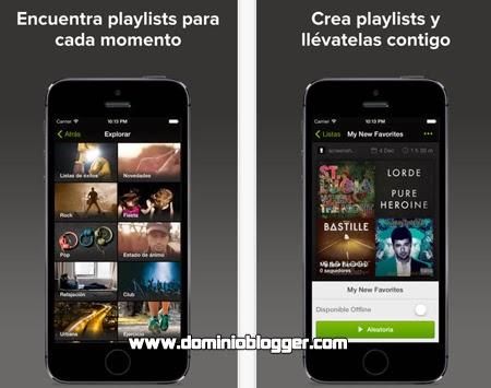 Descarga Spotify Music gratis para tu teléfono con iOS