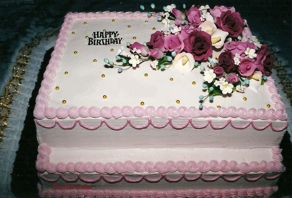 Images Kue Ulang Tahun : Orchid Cake: Birthday Cake/ Kue Ulang Tahun (Dewasa)