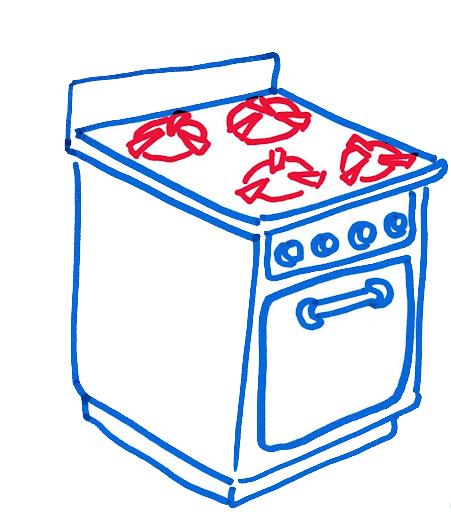 Dibujos cosas de casa imprimir imagenes y dibujos para for Objetos para cocinar