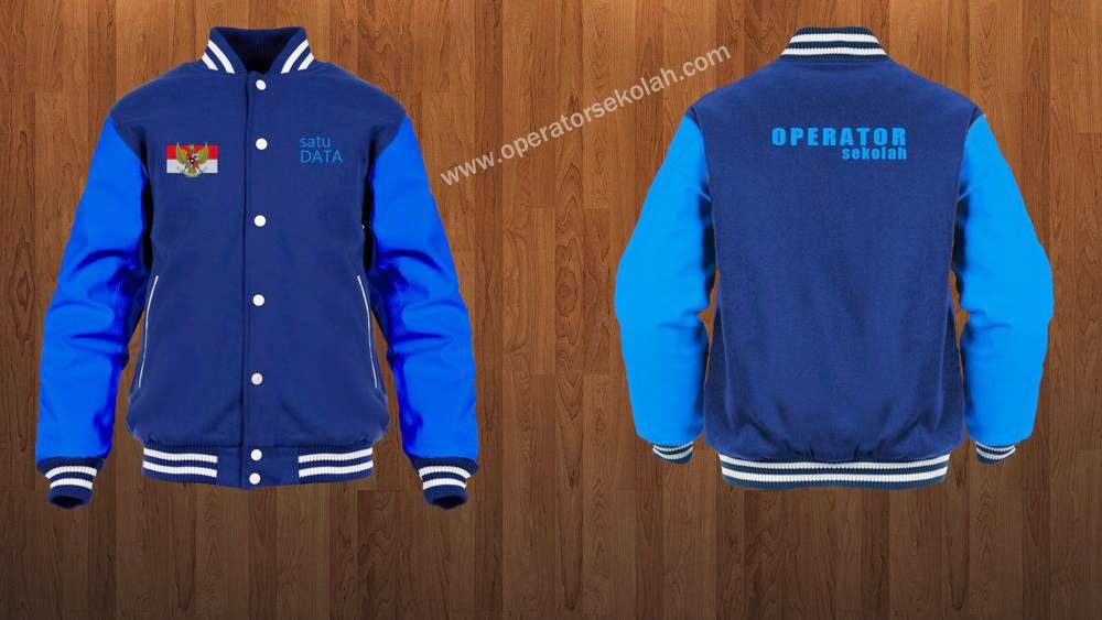Contoh Desain Baju - Jaket Operator Sekolah Simpel Keren - Depan Belakang