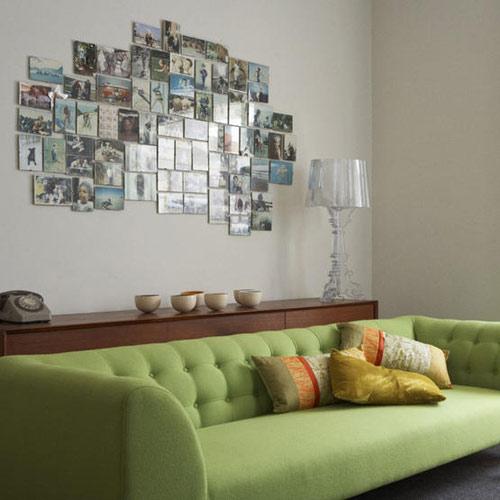 Maderas y chapas c mo decorar una pared - Como poner muchas fotos en una pared ...