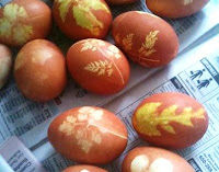 Traditional Swiss dyed Easter eggs by Mara Mcmillan