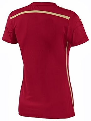 Jersey Ladies Spanyol WC Home 2014