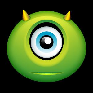Halloween monster emoticon