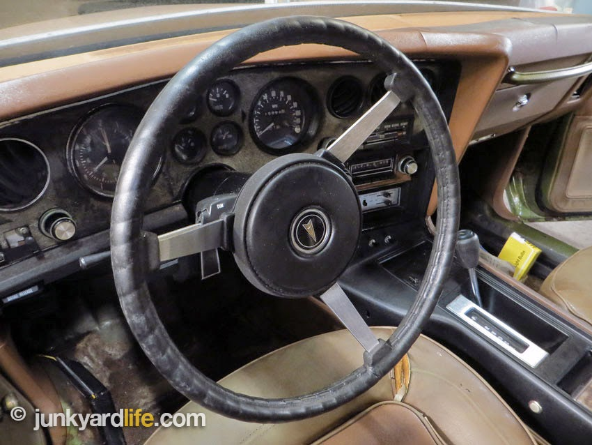 Full compliment of gauges standard on 1973 Pontiac Grand Am