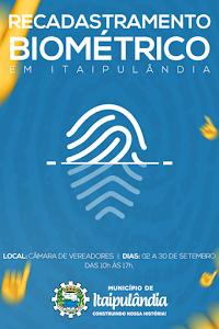 Recadastramento Biométrico.Em Itaipulândia Paraná...