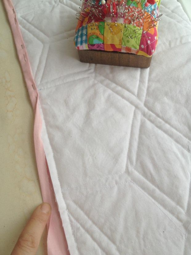 quilt binding finish work