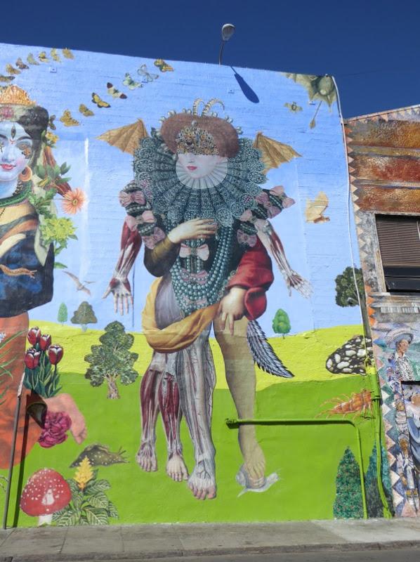 John Vochatzer Queen Elizabeth I mural San Francisco
