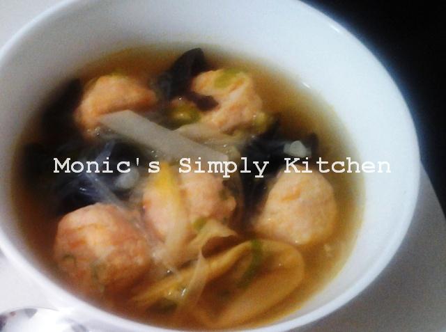 Sup Seafood Sayuran Bebola Udang