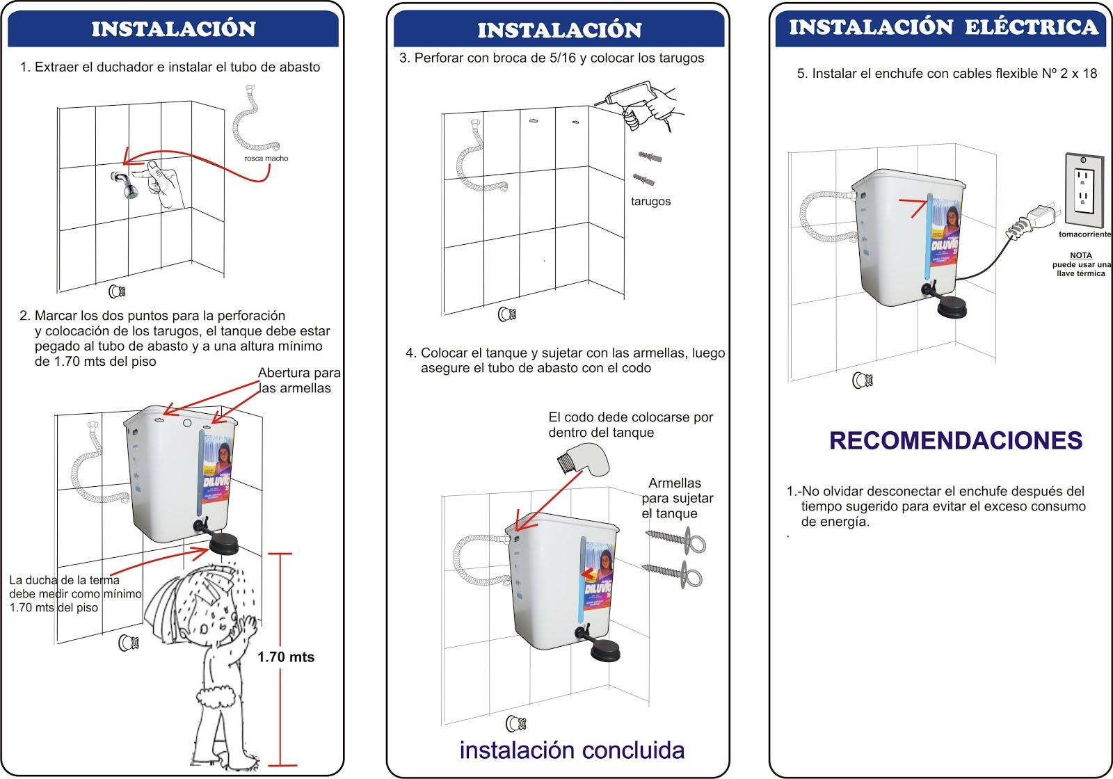 Termas diluvio for Como instalar una terma electrica