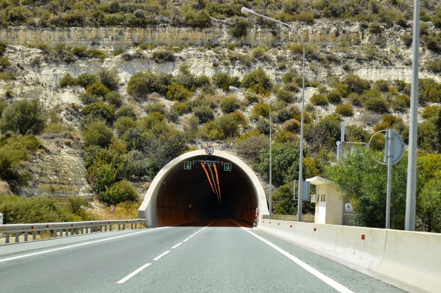 Paphoos tunnel in Cyprus.