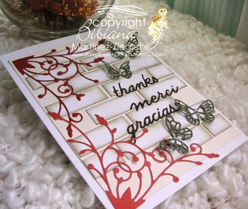 brick wall thank you card flat