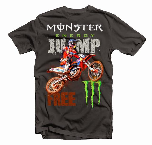 monster jump design tshirt