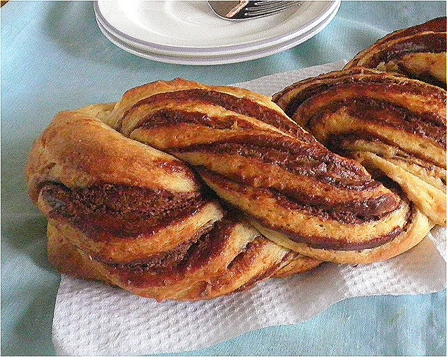 Braided Nutella Brioche Recipe @ http://treatntrick.blogspot.com