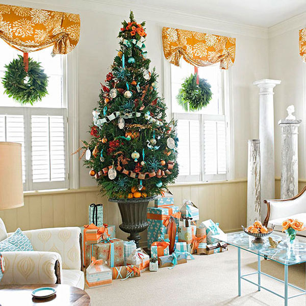 decorations ideas bringing the christmas spirit into your living room