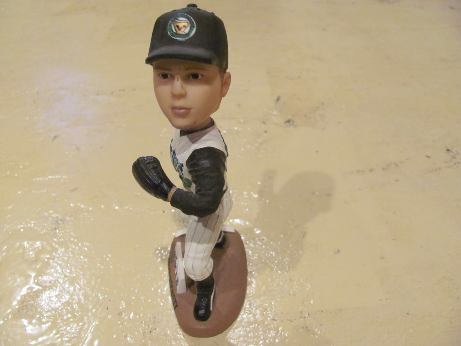 Josh Beckett bobblehead on display before going up for sale