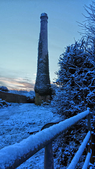 Cornish Tin Mine in Snow