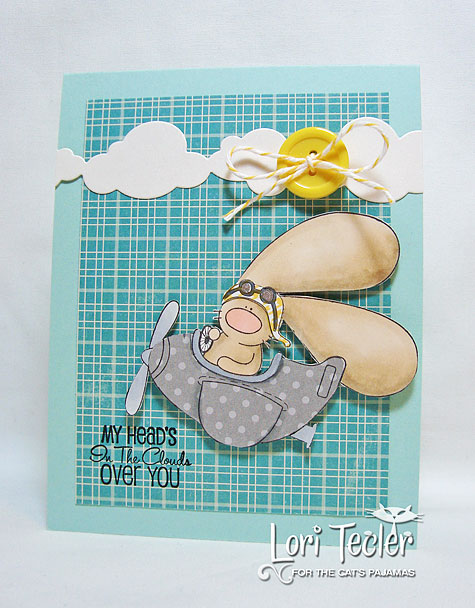 My Head's in the Clouds over You-designed by Lori Tecler-Inking Aloud-stamps and dies from The Cat's Pajamas