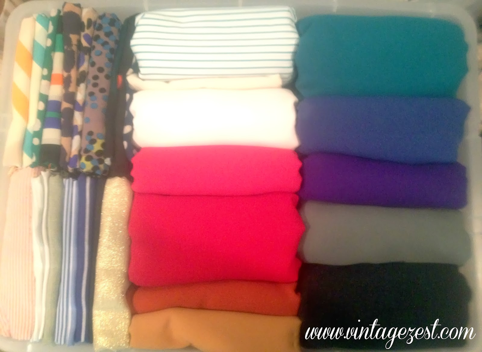 Organizing and Folding Fabric on Diane's Vintage Zest!