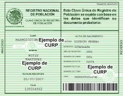 CURP VERDE en linea para imprimir gratis por primera vez