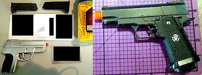 Airsoft Guns (L-R) BWI, SMF