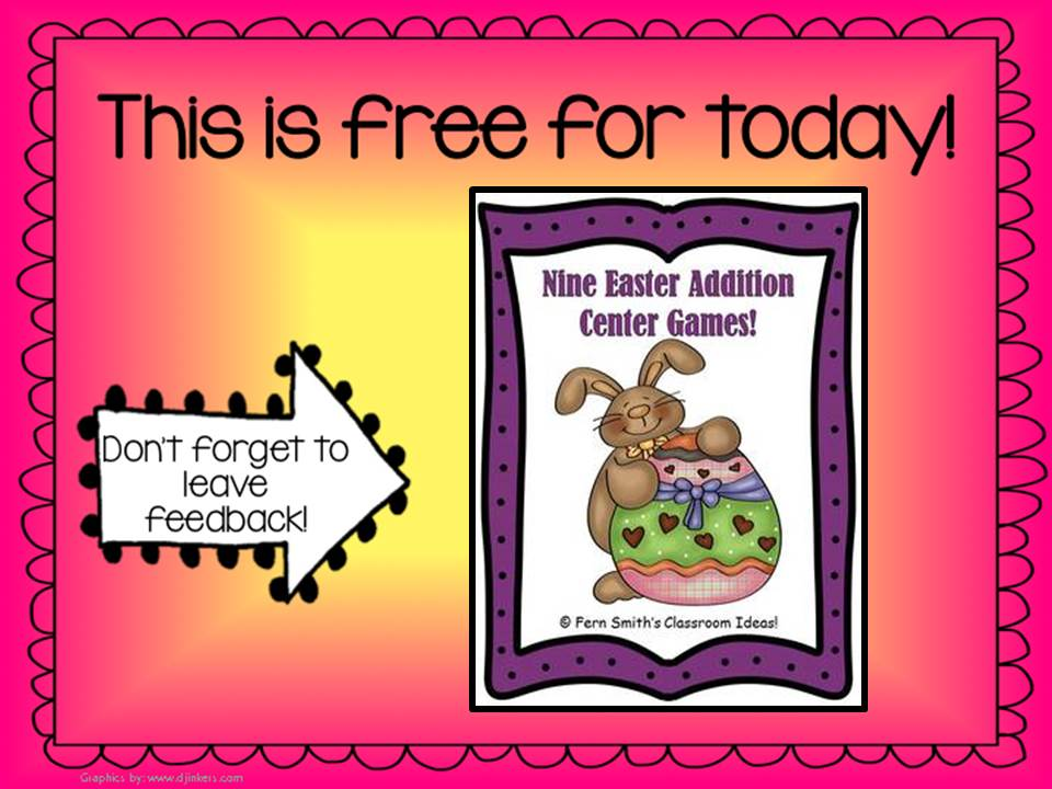 Fern Smith's Nine Easter / Spring Addition Center Games and two other freebies for Throwback Thursday's Trio Freebie Giveaway!