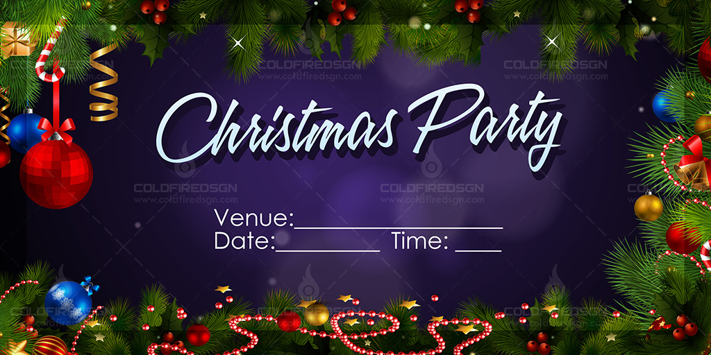 Christmas Party Tarpaulin PSD Template